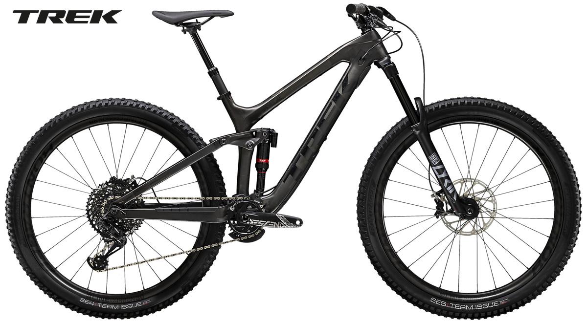 Una mountain bike full suspension Trek Slash 9.8