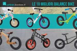 Le 10 migliori Balance Bike per far muovere i primi passi sulla bici ai bambini