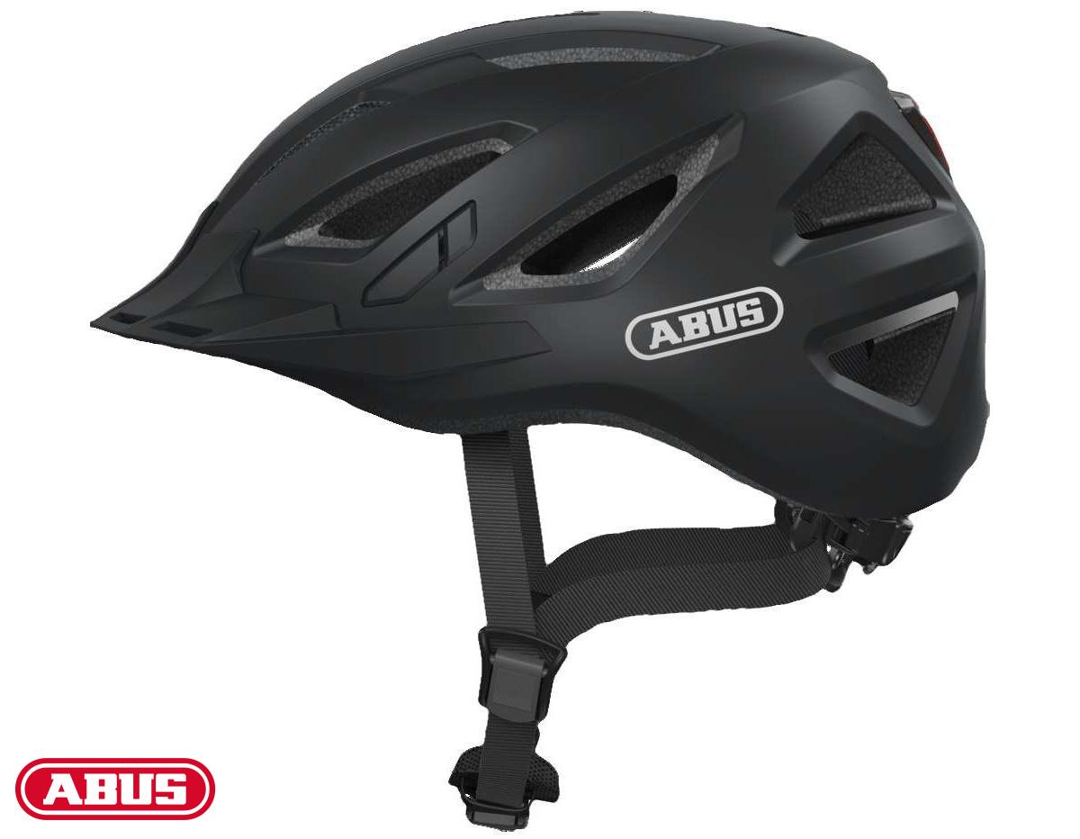 Vista frontale del casco ABUS Urban-I 3.0 in colorazione nera