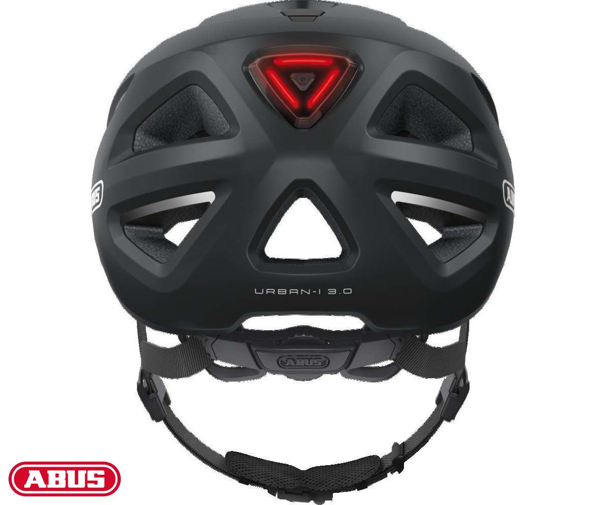 Parte posteriore del casco ABUS Urban-I 3.0 in colorazione nera