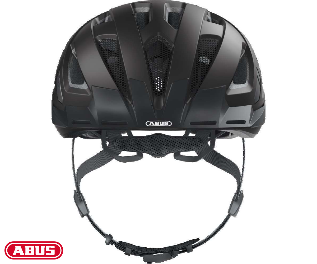 Vista laterale del casco ABUS Urban-I 3.0 in colorazione nera