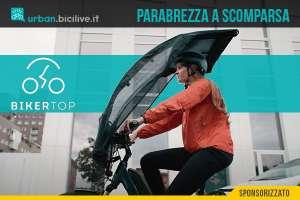 BikerTop: parabrezza antipioggia per bici ed ebike