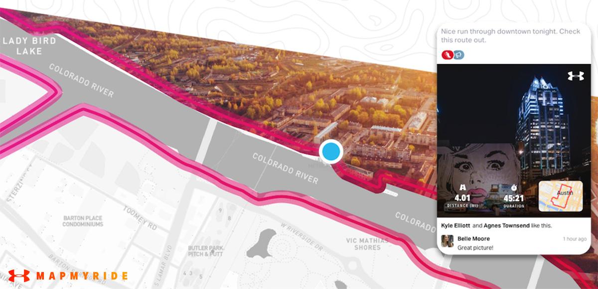 Mapmyride è la nuova app per geolocalizzarsi e scoprire nuovi percorsi