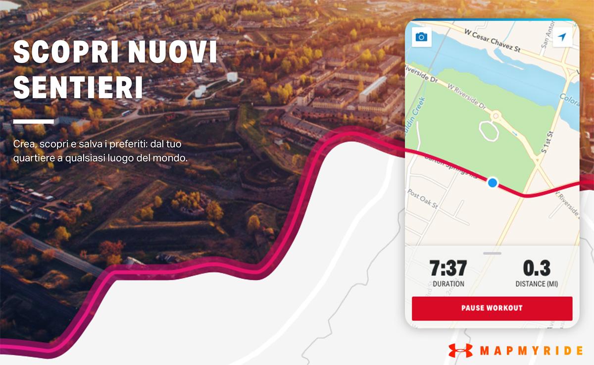 Mapmyride è la nuova app per scoprire nuovi itinerari e geo-localizzarsi tramite GPS