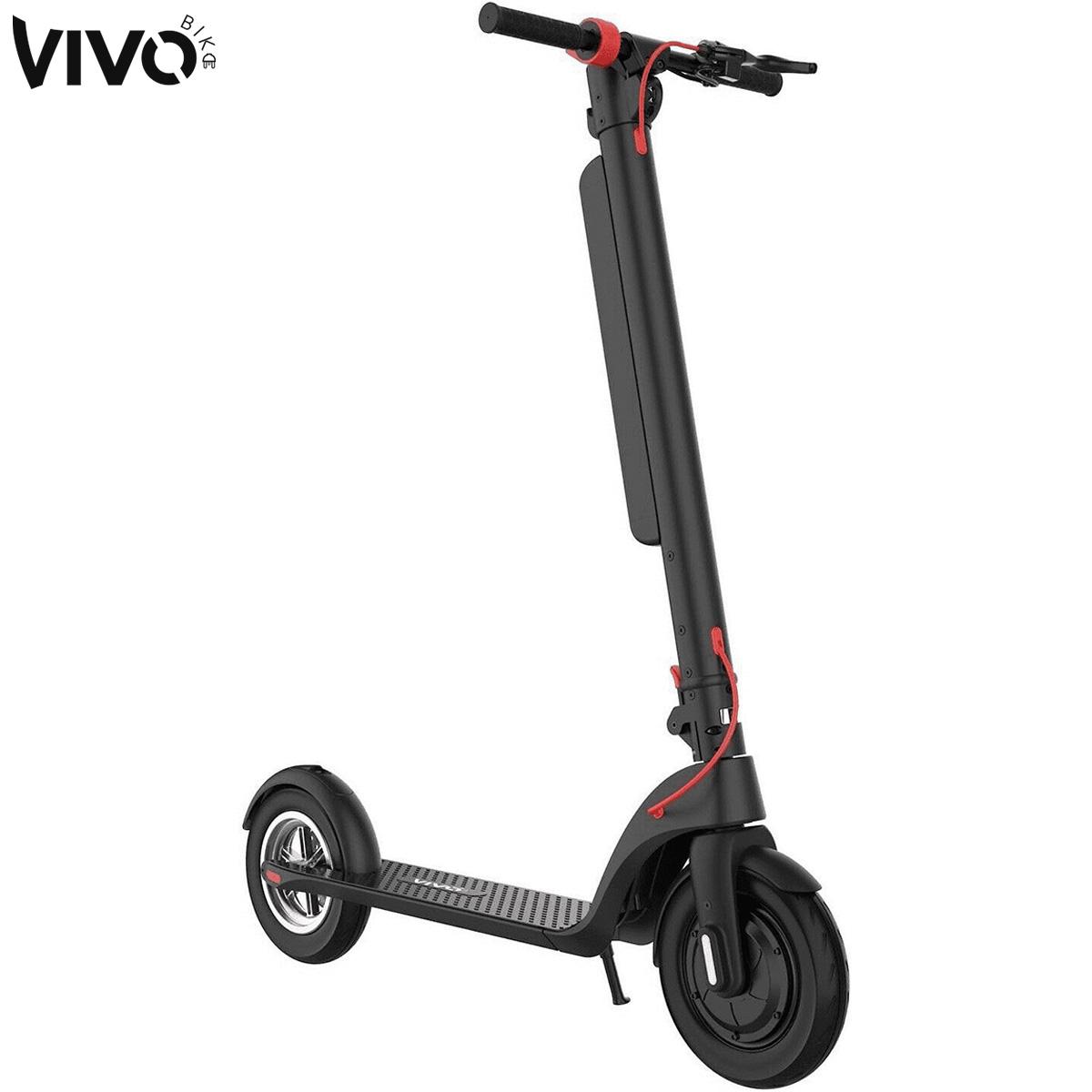 Il monopattino Vivobike e-scooter S3 Max appoggiato sul cavalletto
