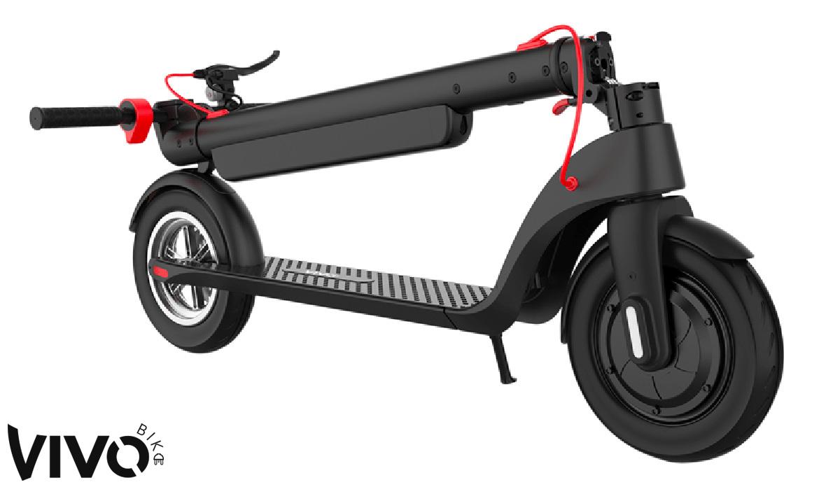 Il monopattino Vivobike e-scooter S3 Max ripiegato