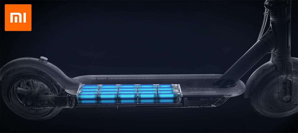 Schematizzazione della batteria interna, posizionata al di sotto del deck