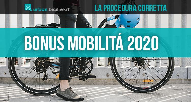 Le istruzioni corrette per richiedere il bonus mobilità 2020