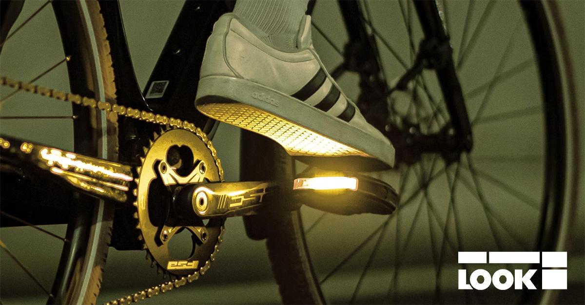 Il pedale flat Look Geo City Grip Vision dispone dell'illuminazione segnaletica