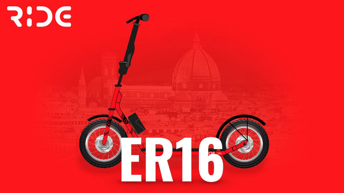 Il nuovo monopattino elettrico Ride ER16