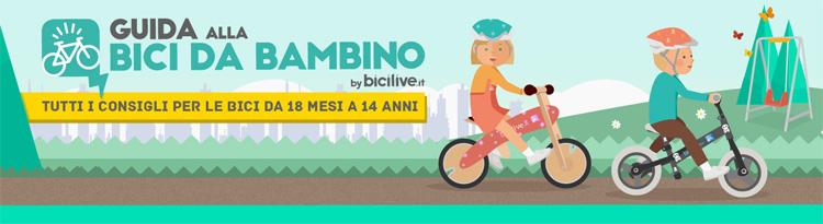 Guida alla bici da bambino