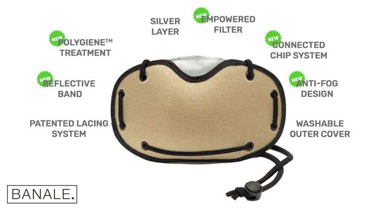 Le caratteristiche della mascherina per ciclisti Banale Silver Mask 2