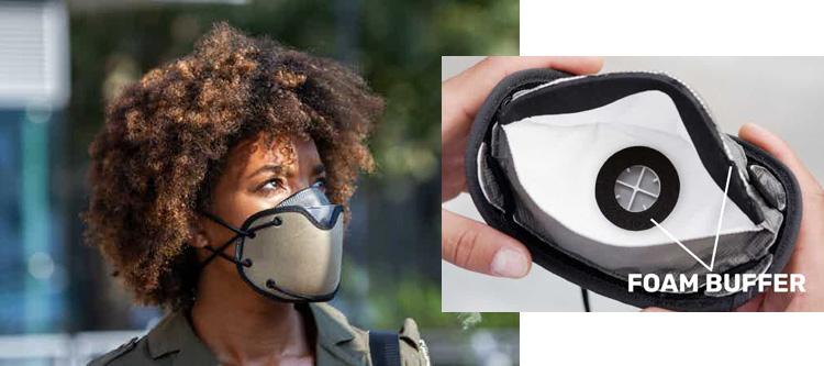 Dettaglio della mascherina FFP2 Silver Mask 2