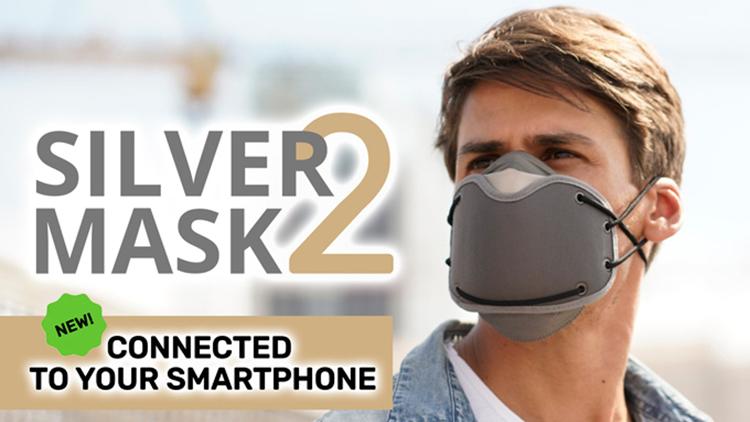 Immagine promozionale della mascherina Silver Mask 2