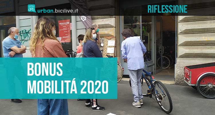 Una riflessione sulle criticità del bonus mobilità 2020