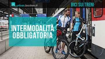 Più spazio per le bici sui treni con l'intermodalità obbligatoria