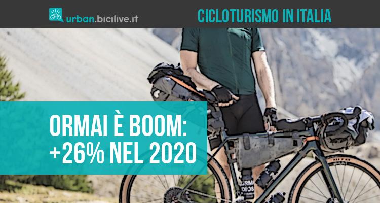 Cicloturismo in Italia: +26% nel 2020