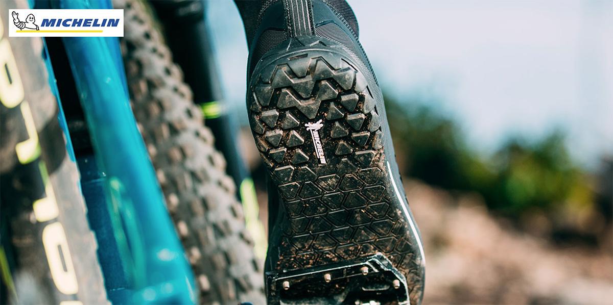 Dettaglio della suola Michelin presente su una scarpa Northwave