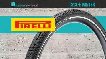 I nuovi pneumatici invernali per bici e ebike Pirelli Cycl-E WT 2021