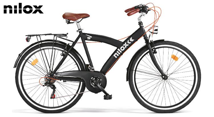 Bicicletta tradizionale Nilox SL Sport in versione unisex e colorazione nera