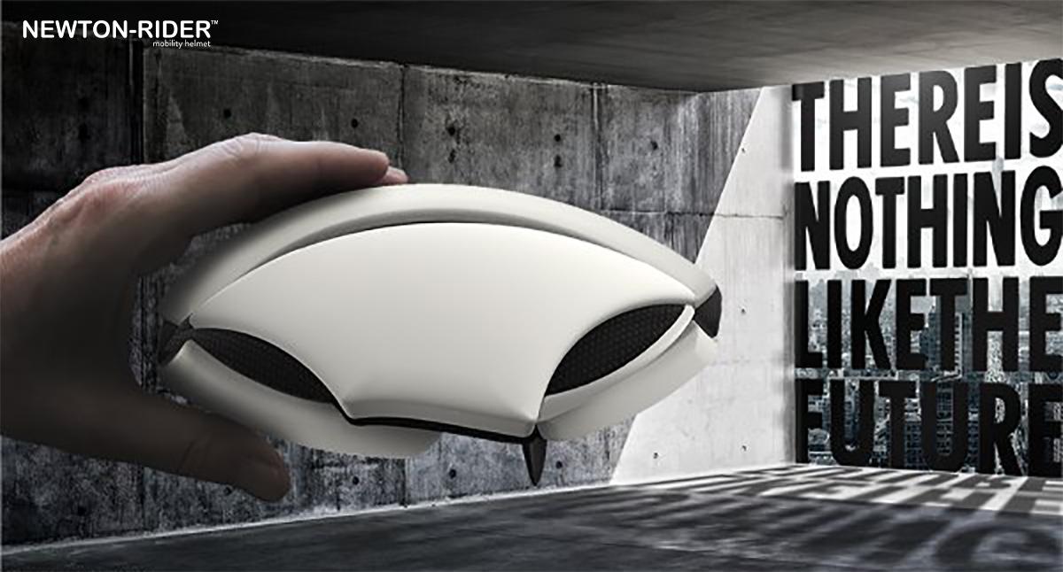 Il nuovo casco per bici Newton Rider piegato 2021