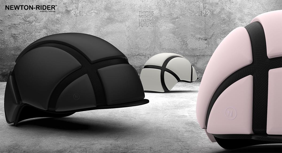 Il nuovo casco pieghevole per bici Newton Rider 2021