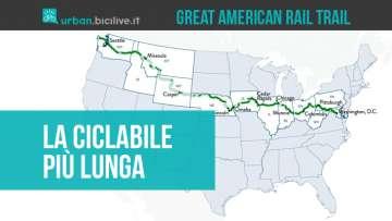 Great American Rail Trail: la pista ciclabile più lunga al mondo