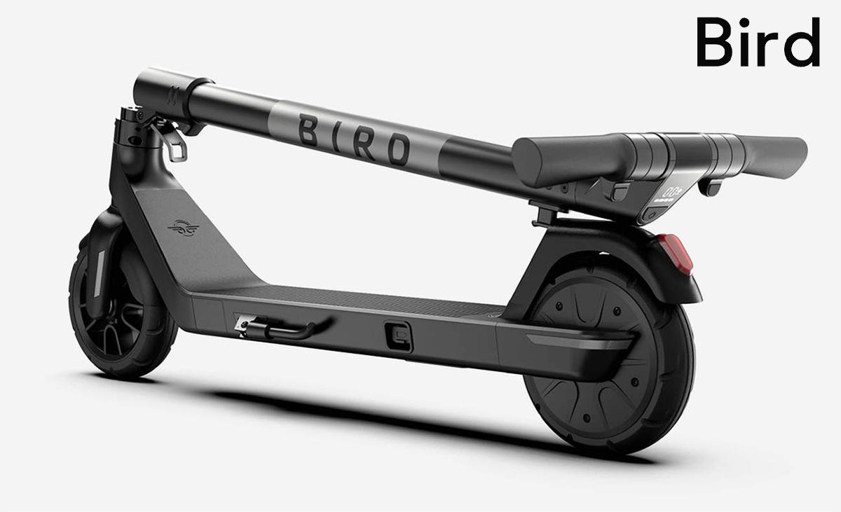Il nuovo monopattino elettrico Bird Air 2021 piegato