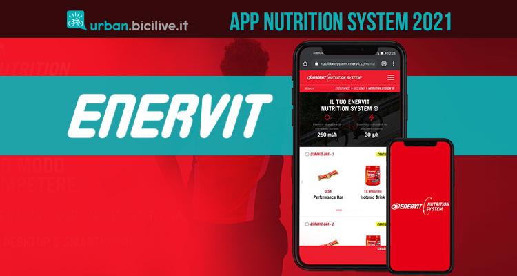 La nuova app di Enervit Nutritional System 2021