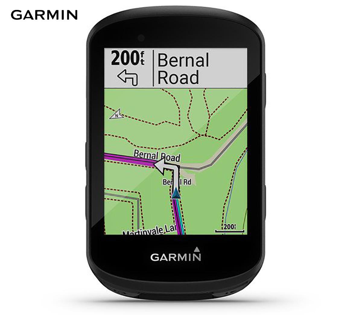 Una schermata del bike computer Garmin Edge 530 mostra le indicazioni da seguire su un percorso programmato