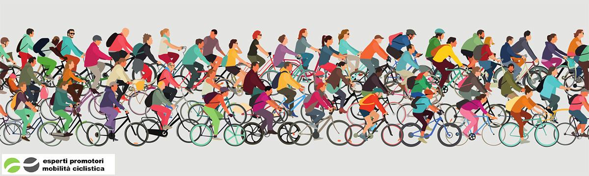 Il banner grafico dell'associazione EPCM per la promozione della mobilità ciclistica