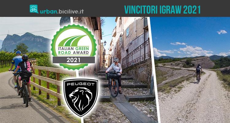 I vincitori dell' Italian Green Road Award 2021