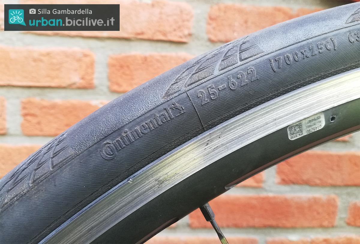 Foto di Silla Gambardella di uno pneumatico per bici da città