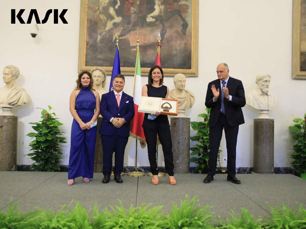 La cerimonia in Campidoglio con la consegna del premio 100 Eccellenze Italiane a Ylenia Battistello, Marketing Director di Kask