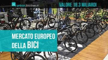 Il mercato europeo della bici vale 18,3 miliardi di euro