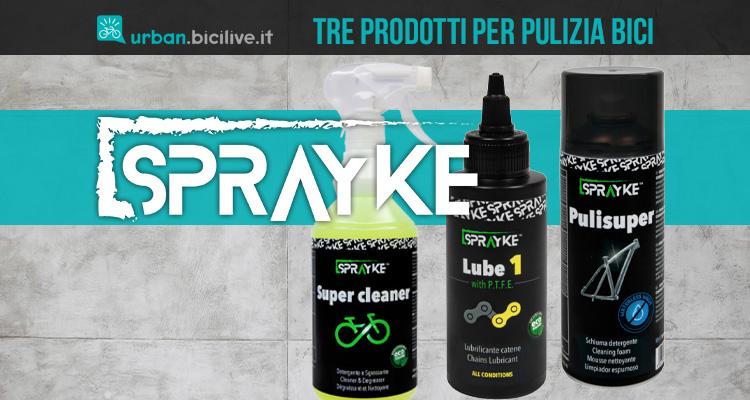 Tre prodotti per la pulizia e la lubrificazione della bicicletta Sprayke 2021