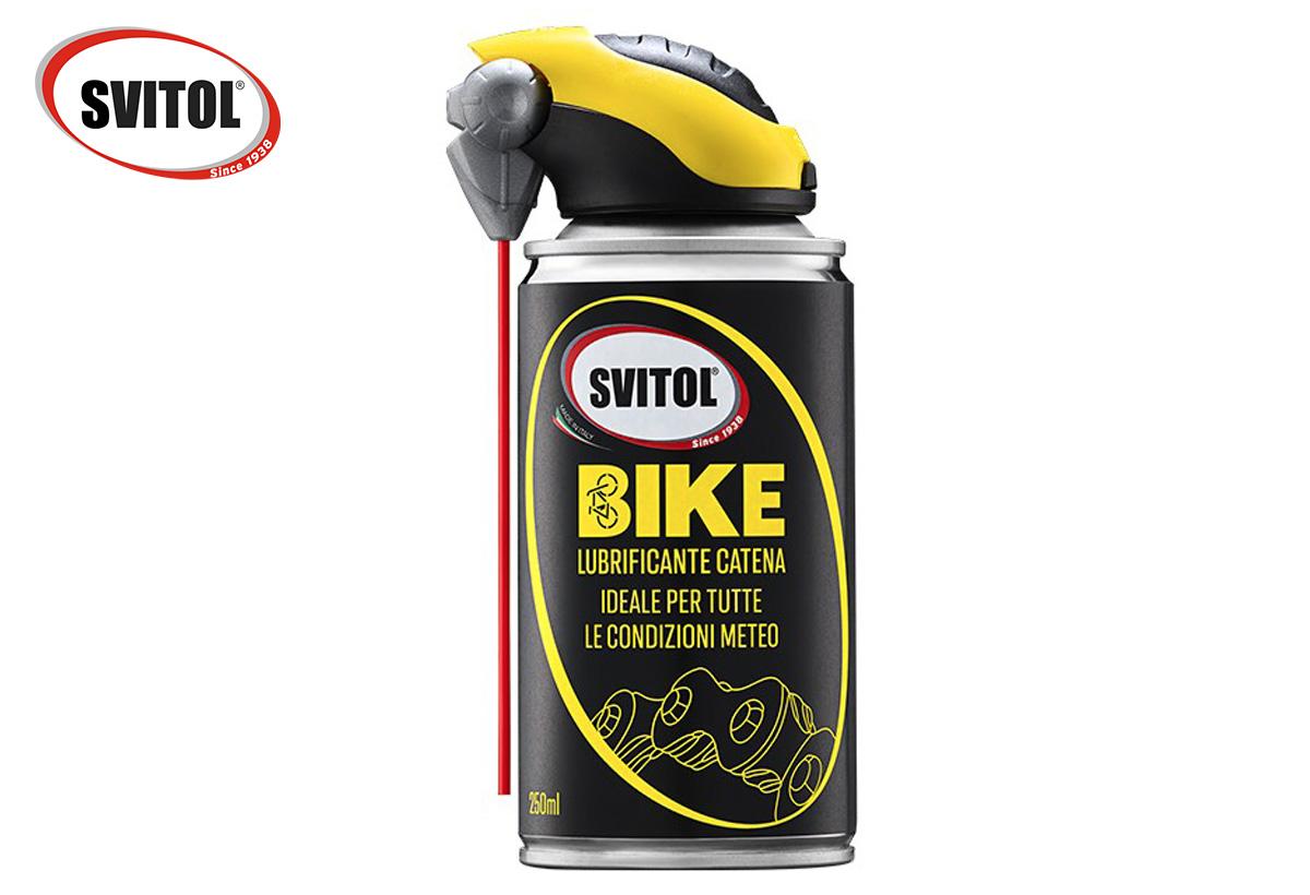 Il lubrificante per catena della linea bike di Svitol