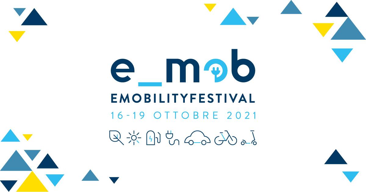 Il banner della quinta edizione del Festival Nazionale Mobilità Elettrica 2021