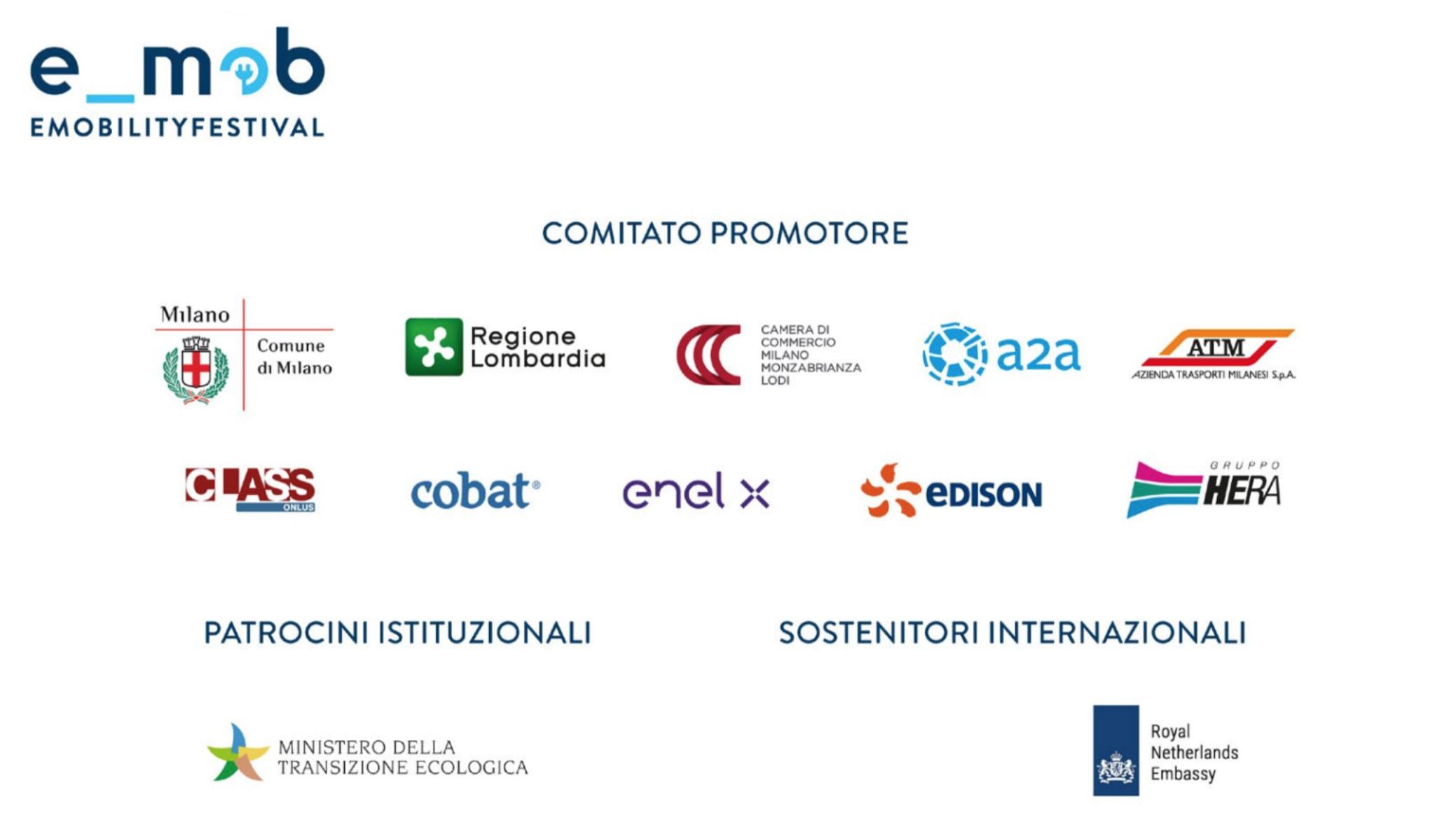 La lista del comitato promotore dell'edizione 2021 del Festival Nazionale Mobilità Elettrica