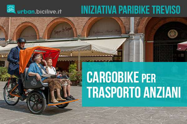 La nuova iniziativa di Treviso per il trasporto anziani tramite bici cargo Paribike