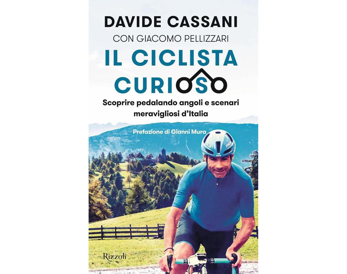 """La copertina del nuovo libro di Davide Cassani """" Il ciclista curioso"""""""