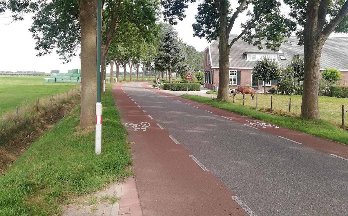 La pista ciclabile Fietsstrook presente in Olanda