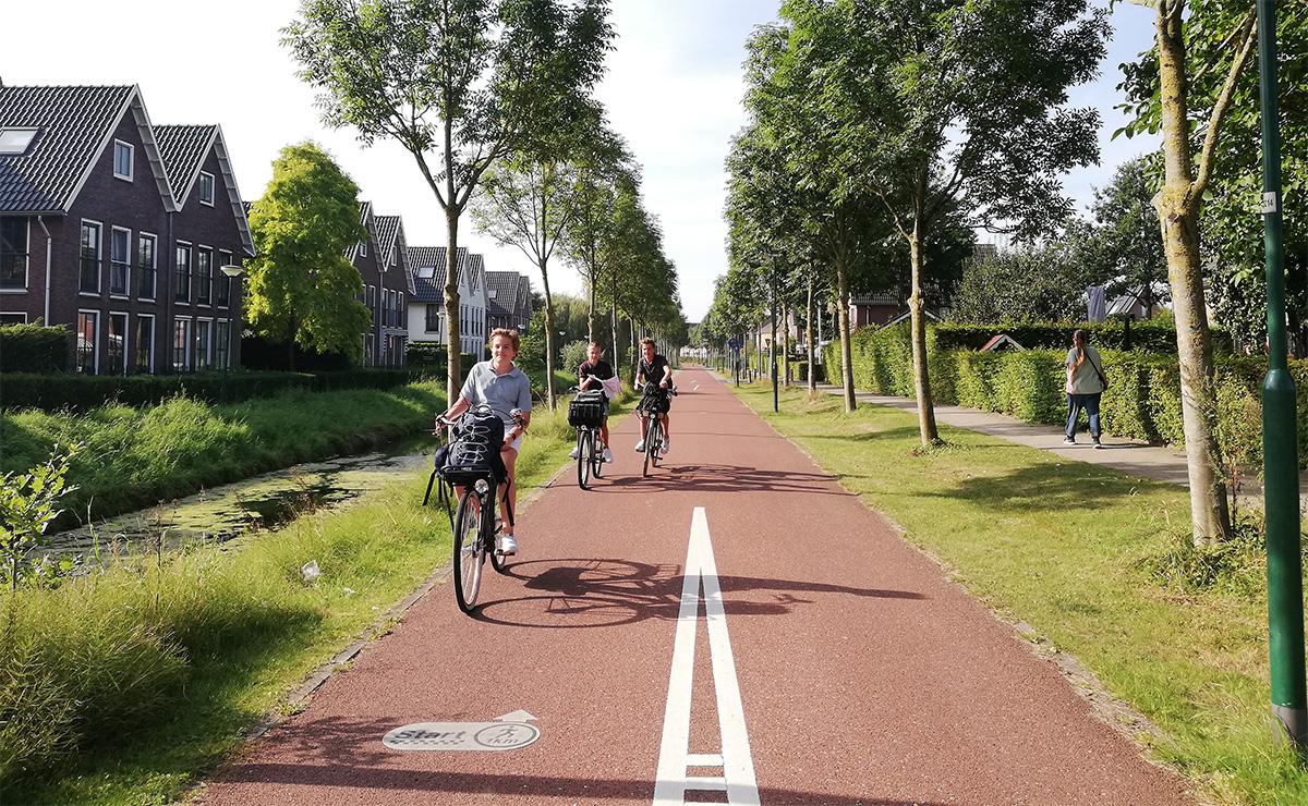La pista ciclabile Houten presente in Olanda