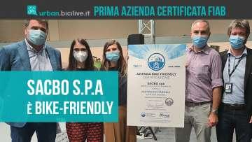 L'azienda SACBO s.p.a riceve la certificazione FIAB di azienda Bike-friendly