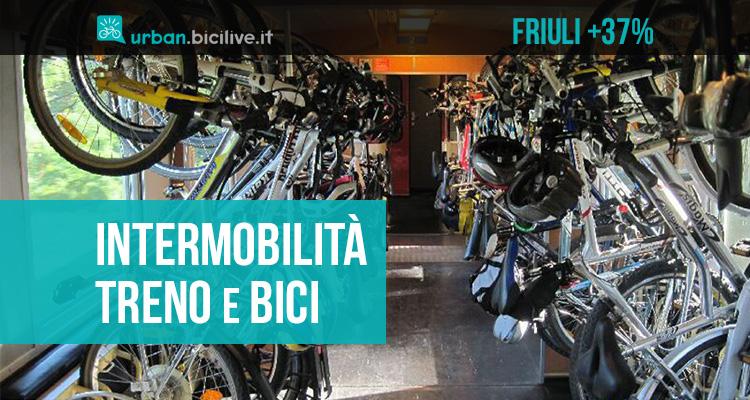 Cresce del 37% l'intermobilità treno e bici in Friuli