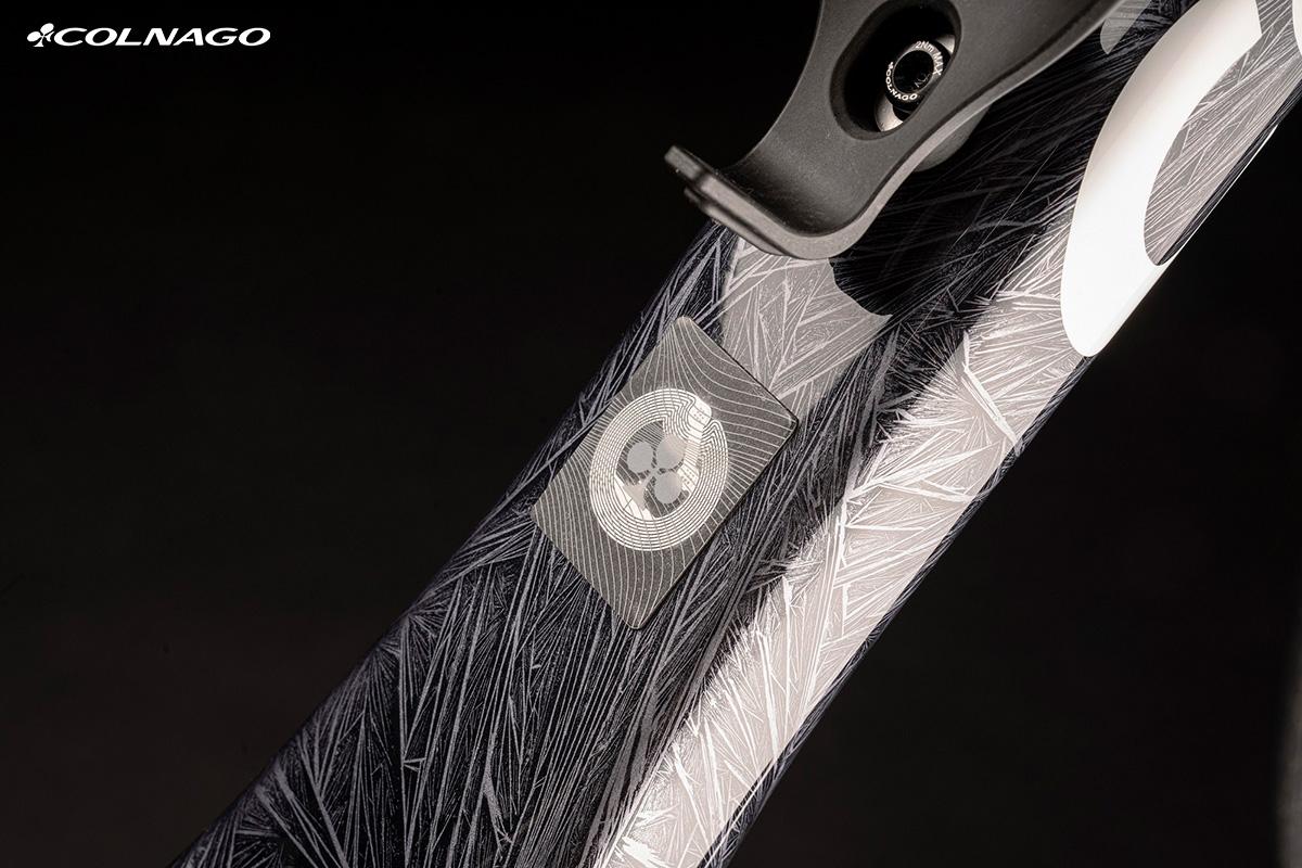 Il tag RFID installato nel telaio della bici Colnago