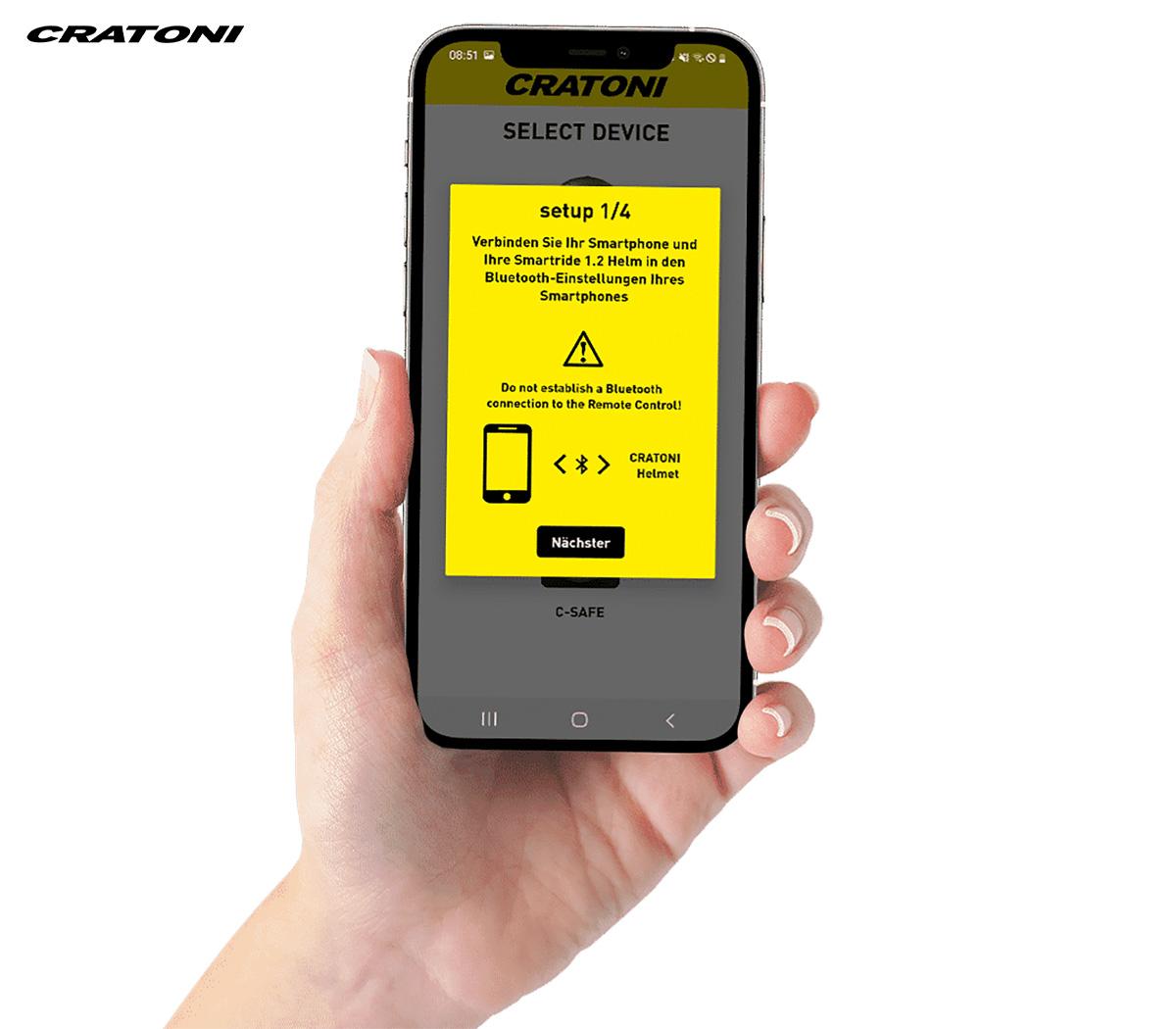 L'app del nuovo casco segnaletico per bici elettrica Cratoni Smartride 1.2