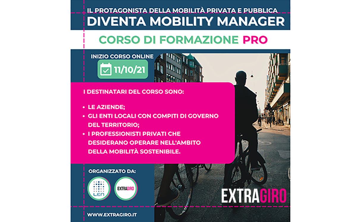 Banner di presentazione del nuovo corso di ExtraGiro per formare Mobility Manager