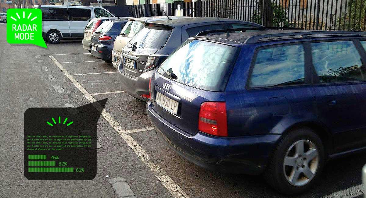 Auto parcheggiate, potenzialmente ricche di insidie improvvise