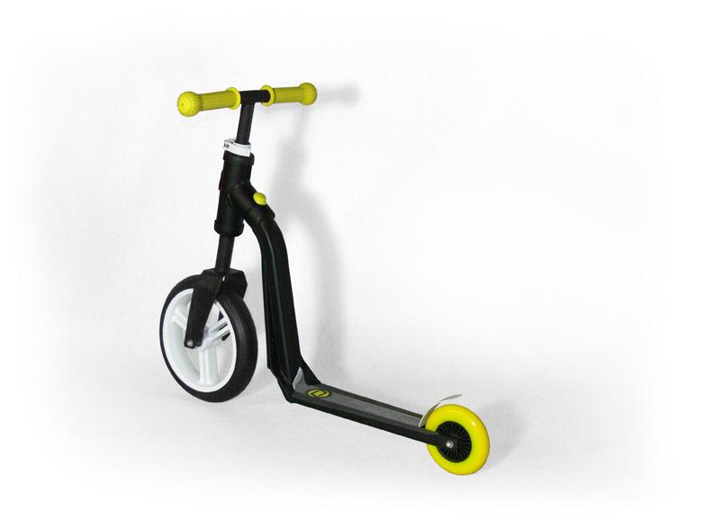 Il monopattino Highway Freak che si trasforma in bici senza pedali